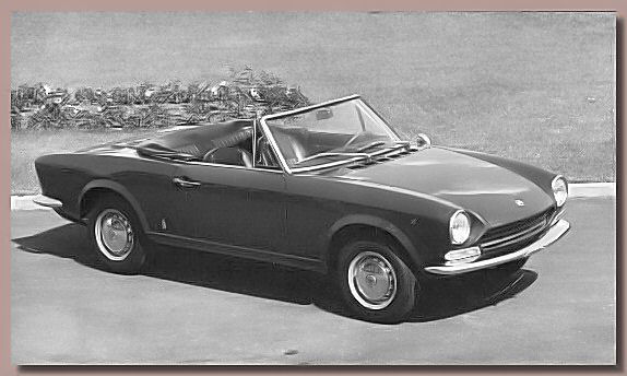 The 1966 Fiat 124 Sport Spider designed by Tom Tjaarda ( at that time working at the Pininfarina Studio's ) in several successive versions for nearly 20 years ( over 200,000 produced