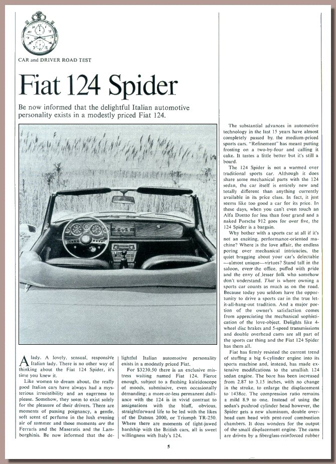 Roadtest Car & Driver, August 1968