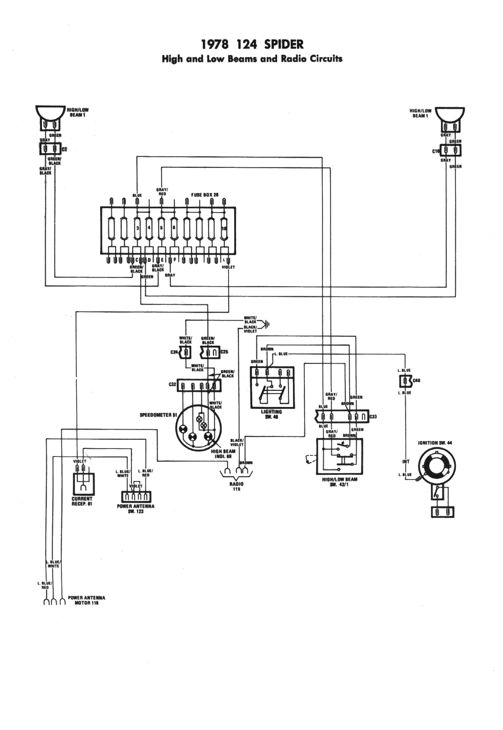 Diagram  1973 Fiat 128 Wiring Diagram In Color Full Version Hd Quality In Color