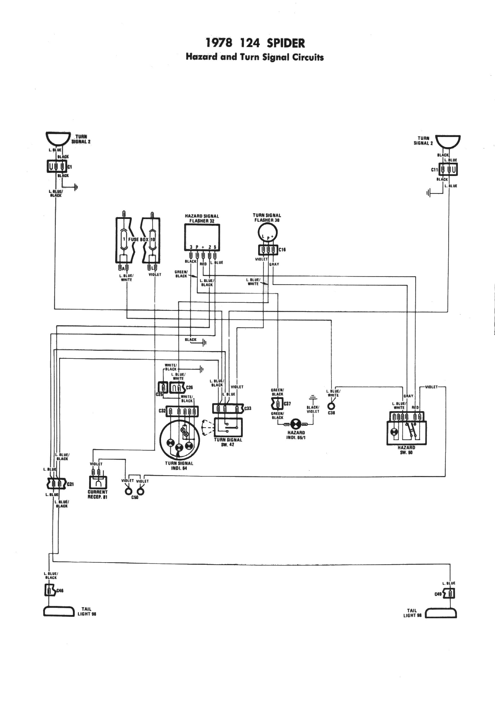 fiat turn signal wiring diagram fiat wiring diagrams collection