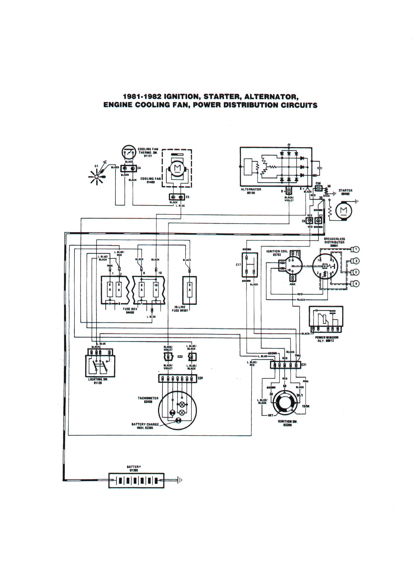 Fiat 124 Spider Electrical Schemes Starter Alternator Wiring Diagram Original Scheme