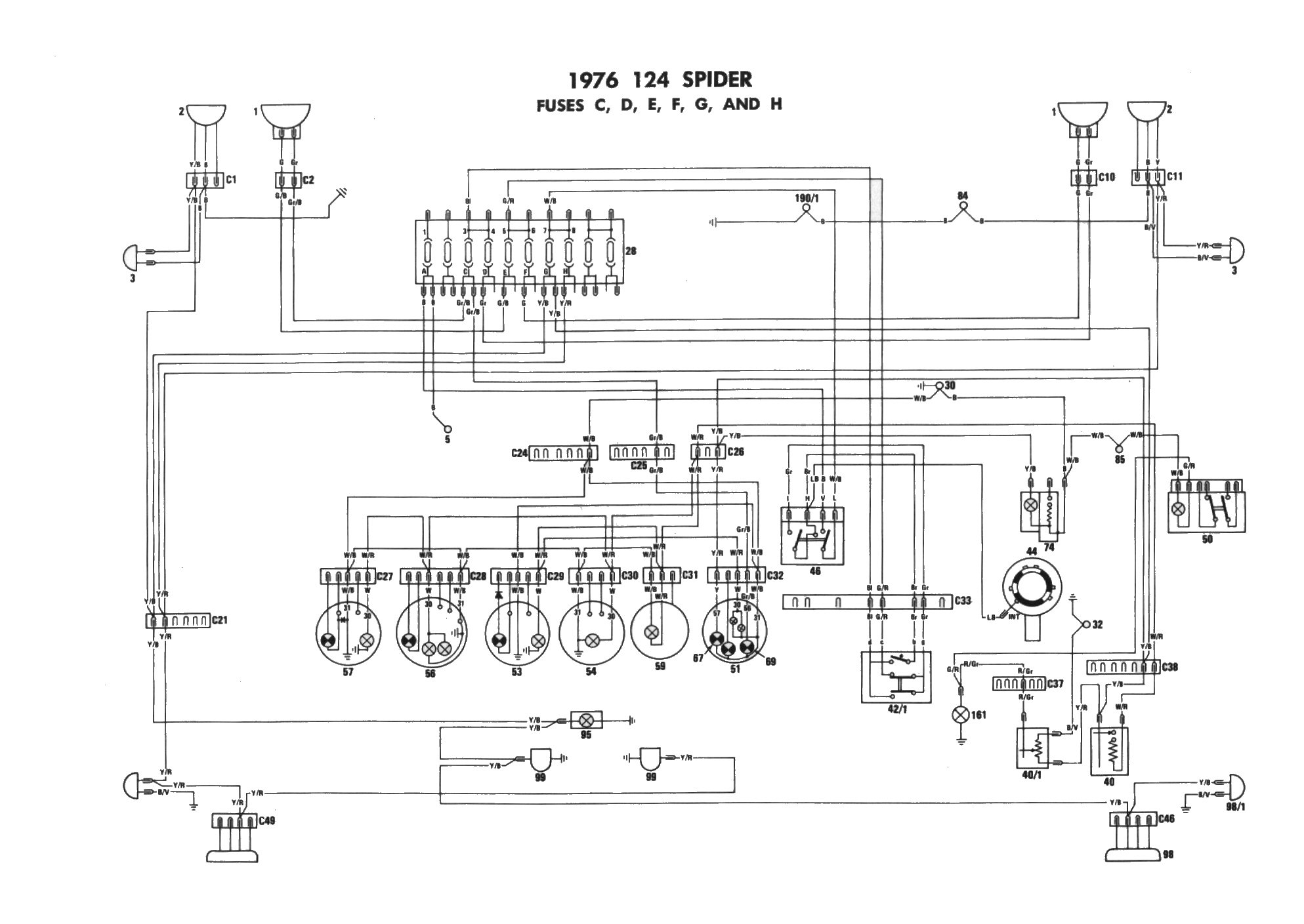 Fiat Wiring Diagram : Fiat spider spidersweb on repeated request