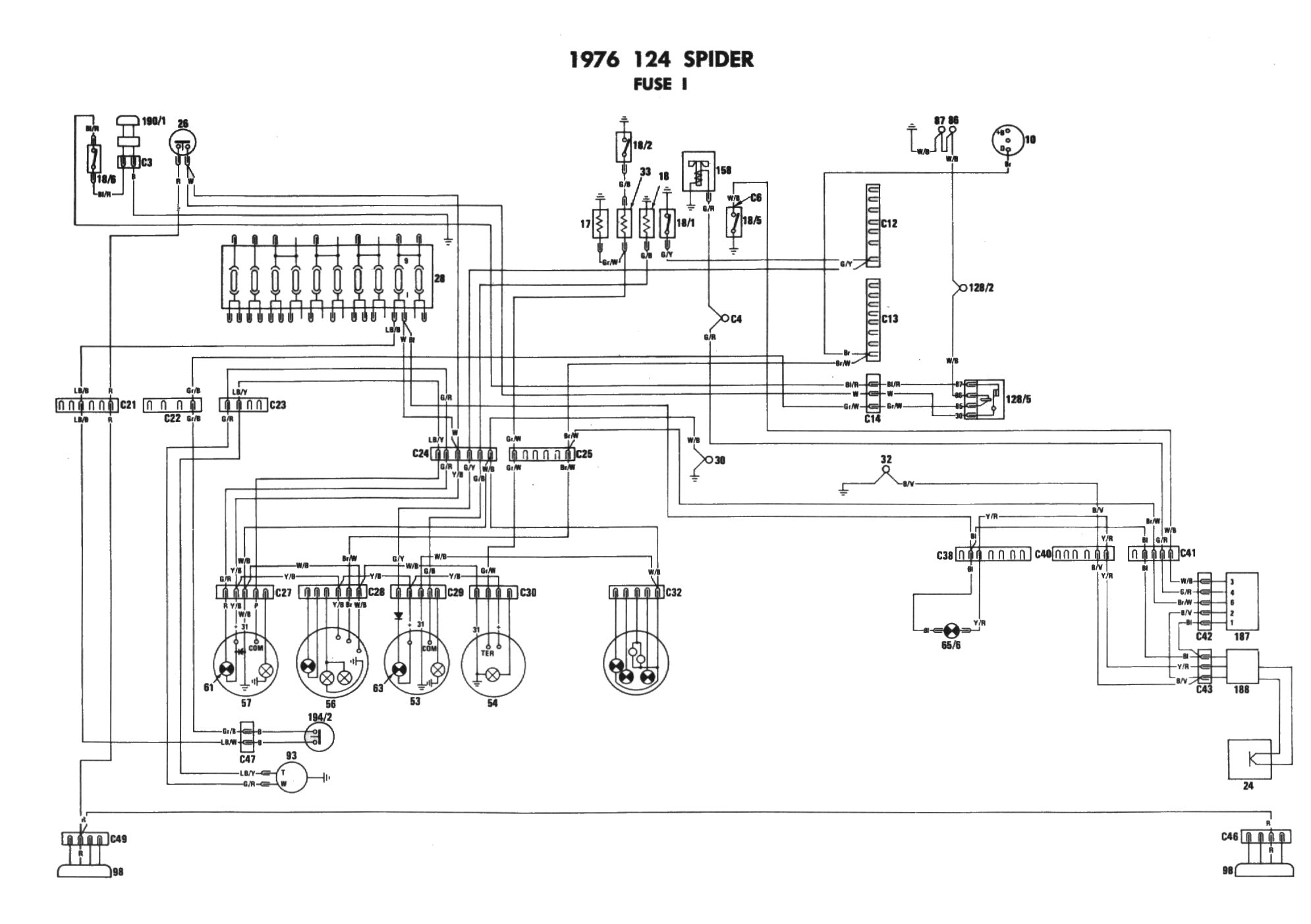 1972 fiat spider wiring diagram
