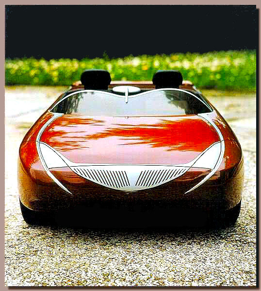 Front view styling model TT Chrome Barchetta - design Tom Tjaarda